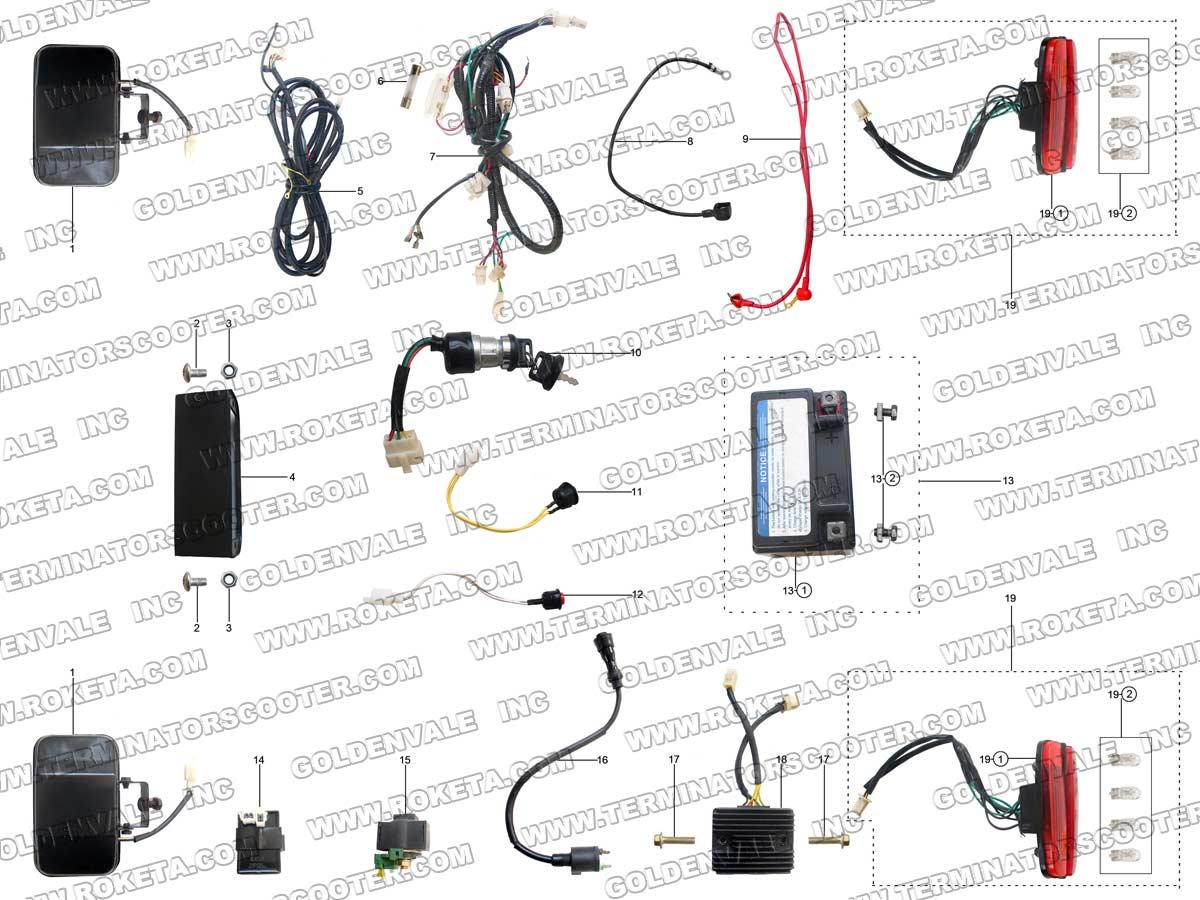 Roketa Gk 39 Electrical Parts