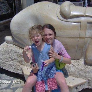 Una i ja u starom gradu u Susu