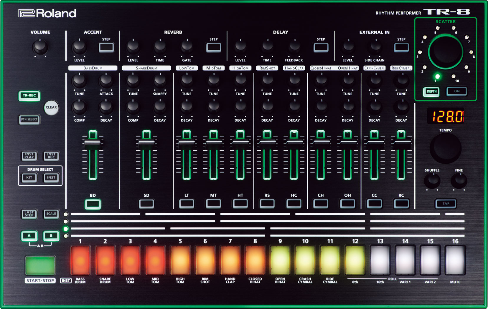 75e862a1b72321 This is the next step in the evolution of Roland TR drum machines. It takes  the best features of the legendary TR-808 and TR-909 machines and couples  them ...