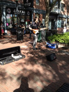 On Davis Square with Stratocaster