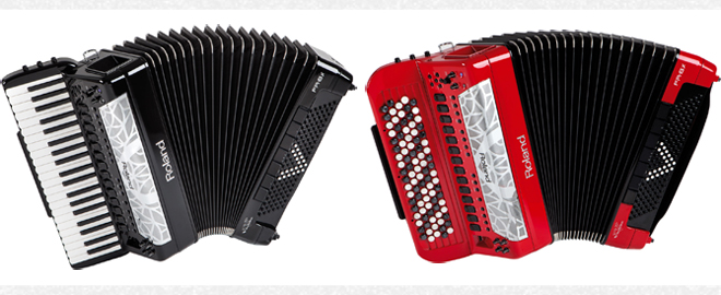 Roland FR-8x and FR-8xb V-Accordions.