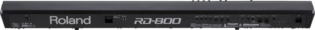 RD-800 Stage Piano Rear Panel