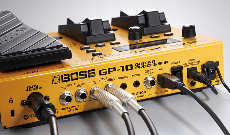 GP-10 guitar processor rear view