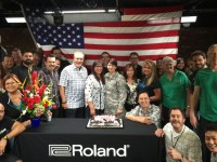Roland U.S. Welcomes Home a Soldier