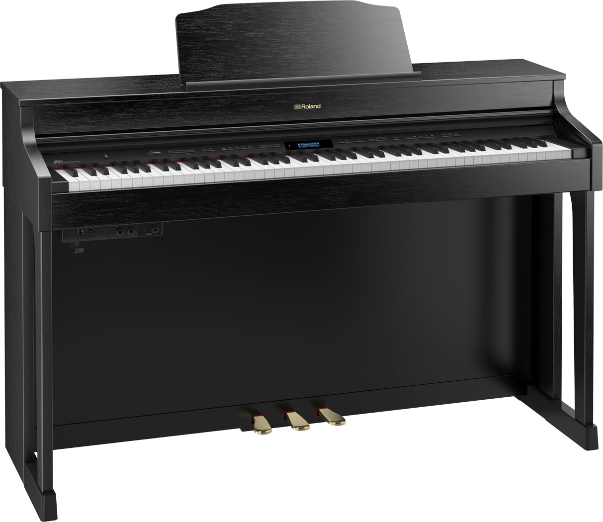 Roland HP603 home piano in Contemporary Rosewood finish.
