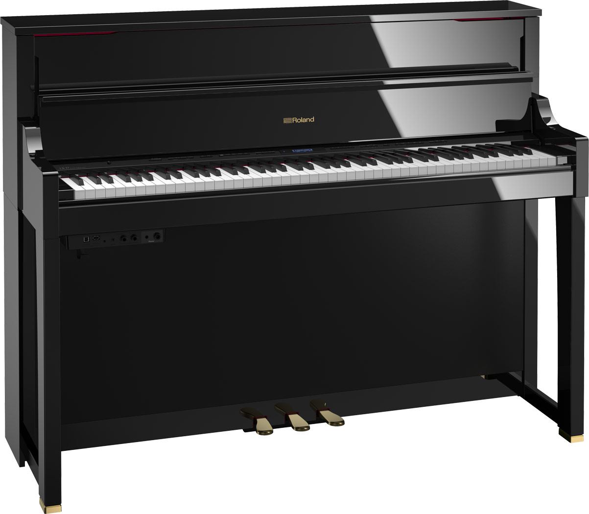 LX-17 Home Piano in Polished Ebony