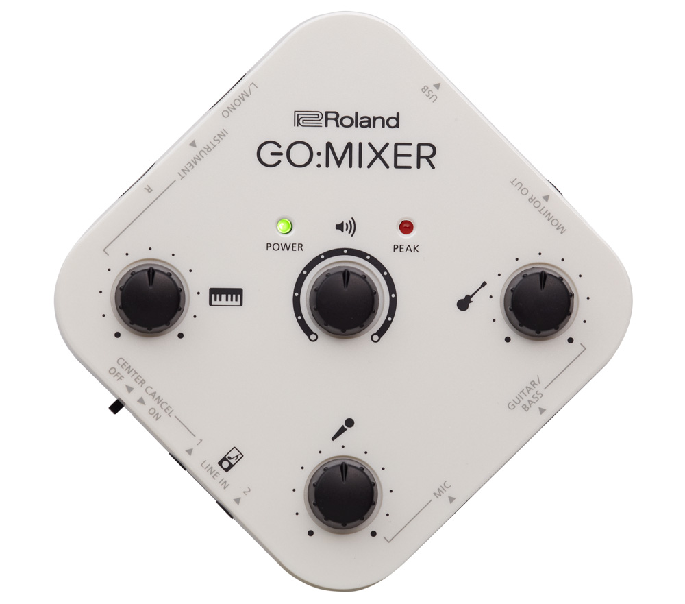 The Roland GO:MIXER is ultra-portable and easy to use.