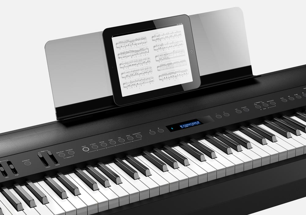 With built-in Bluetooth connectivity, FP-90 users can enhance their piano experience with an iOS or Android tablet device.