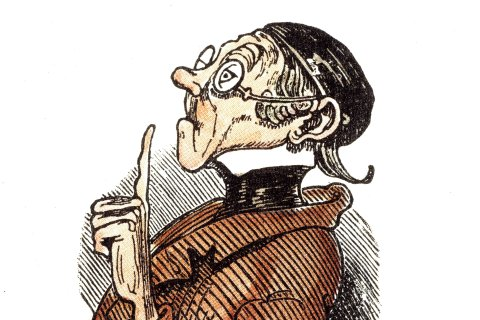 Wilhelm Busch: Lehrer (Teacher) Lämpel
