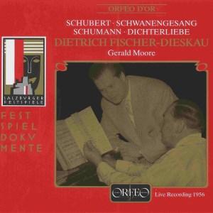 Schubert: Schwanengesang; Schumann: Dichterliebe -Fischer-Dieskau, Moore, CD cover