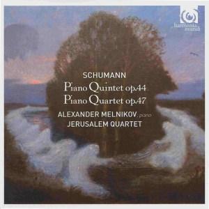 Schumann: piano quintet op.44, piano quartet op.47 - Melnikov, Jerusalem Quartet, CD cover