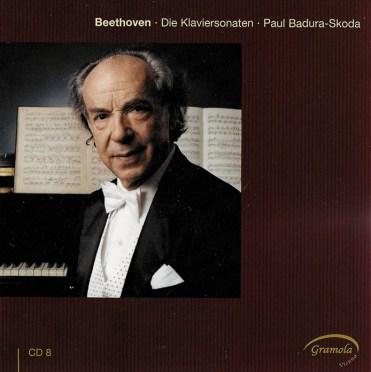 Beethoven: The Piano sonatas 8, Badura-Skoda, CD cover