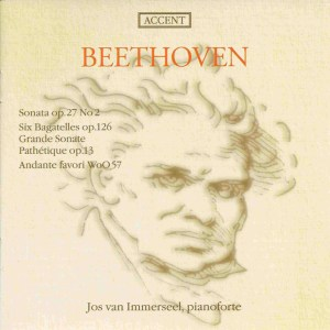 Beethoven: Piano sonatas opp.13 & 27/2, Bagatelles, Andante favori, van Immerseel, CD cover