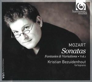 Mozart: Keyboard works, vol.1 —Bezuidenhout, CD cover