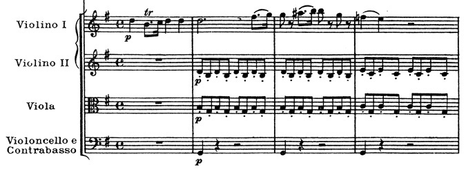 Mozart: Piano concerto K.453, mvt.1, score sample