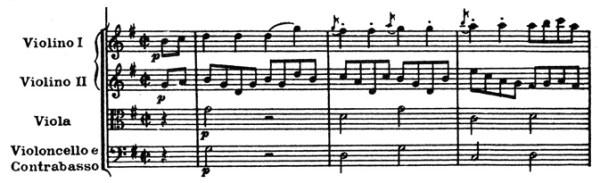 Mozart: Piano concerto K.453, mvt.3, score sample, Allegretto