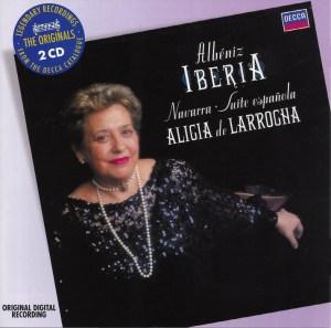 Albéniz: Iberia, Navarra, Suite española —Larrocha: CD cover