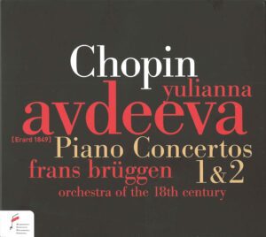 Chopin: piano concertos 1 & 2 — Avdeeva / Brüggen; CD cover
