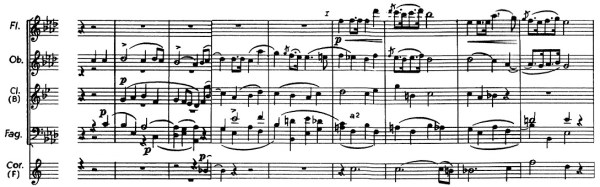 Chopin: piano concerto No.2 F minor, op.21, score sample, mvt.1, 2nd theme