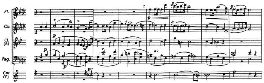 Chopin: piano concerto No.2 F minor, op.21, score sample, mvt.1, 2nd theme