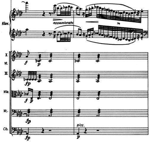 Chopin: piano concerto No.2 F minor, op.21, score sample, mvt.3, middle part, tremolo