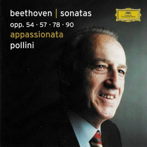 Beethoven: Piano Sonatas opp.54, 57, 78, 90 — Pollini; CD cover