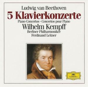 Beethoven: Piano Concertos, Piano Sonata op.111 — Kempff, Leitner; CD cover