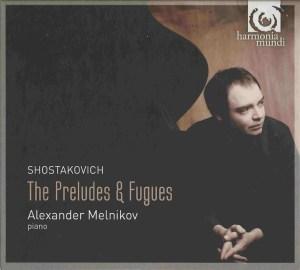 Shostakovich: 24 Preludes, Melnikov, CD cover