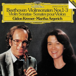 Beethoven: Violin sonatas vol.1, Kremer, Argerich, CD cover