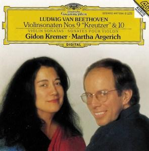 Beethoven: Violin sonatas vol.4, Kremer, Argerich, CD cover