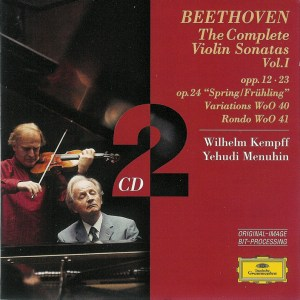 Beethoven: Violin sonatas vol.1, Menuhin, Kempff, CD cover