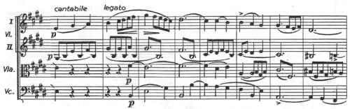 Chopin: piano concerto No.1 eminor, op.11, score sample, mvt.1, theme #3