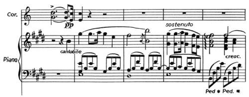 Chopin: piano concerto No.1 eminor, op.11, score sample, mvt.2, theme/solo