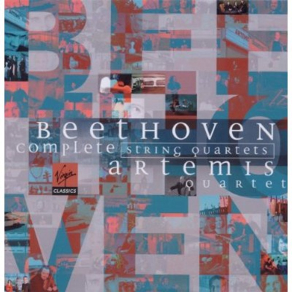 Beethoven, string quartets, Artemis Quartet, CD cover