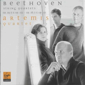Beethoven, string quartets opp.18/2, 59/3, 131 & 132, Artemis Quartet, CD cover