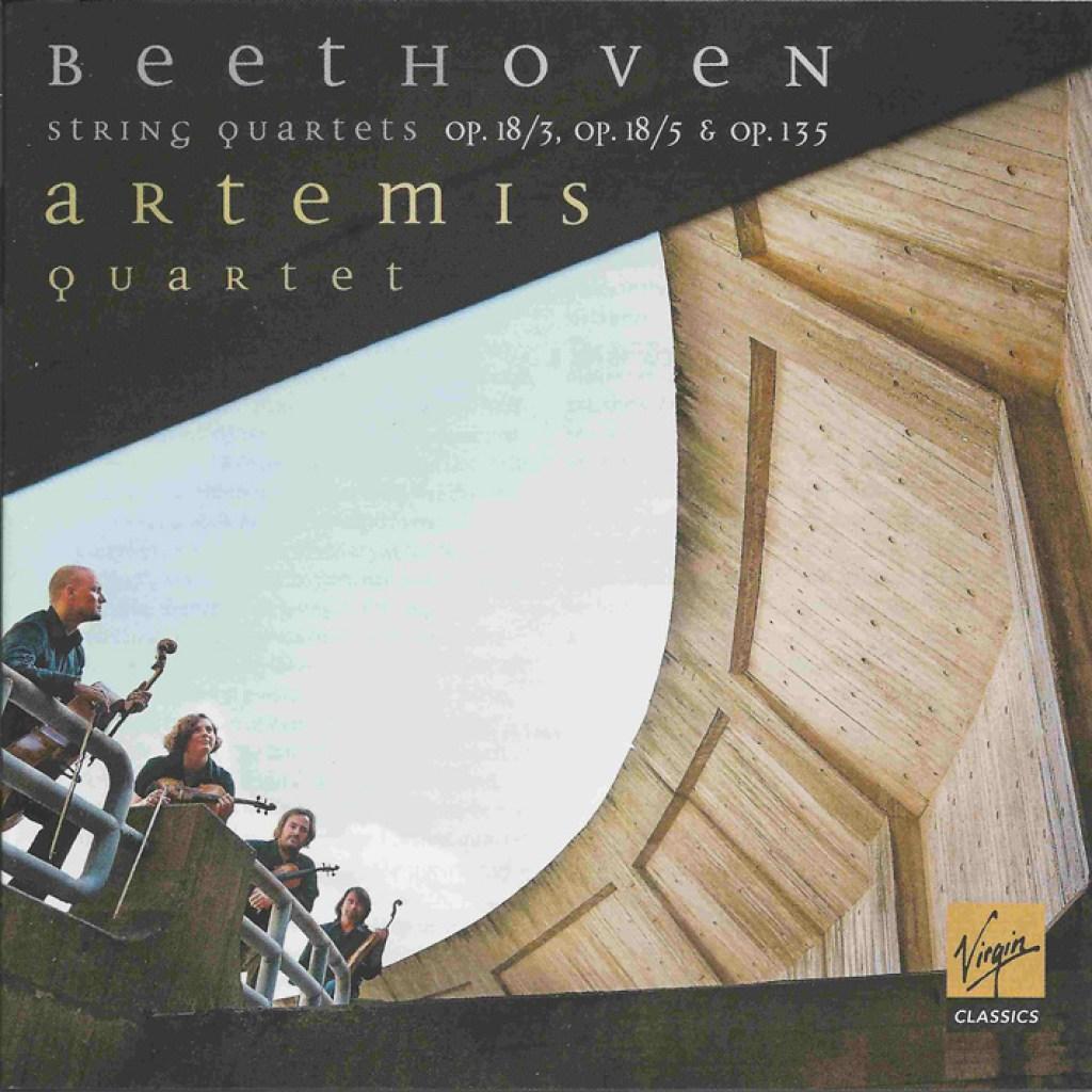 Beethoven, string quartets opp.18/3, 18/5 & 135, Artemis Quartet, CD cover