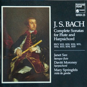 Bach: Partita for Flute solo, Sonatas for Flute and Harpsichord, See, Moroney, CD cover