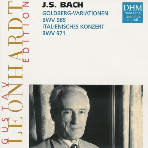 Bach: Goldberg Var., Ital.Conc., Leonhardt, CD cover