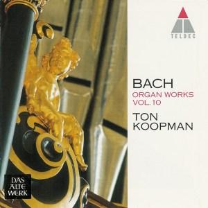 Bach: Organ Works, vol.10 — Koopman, CD cover