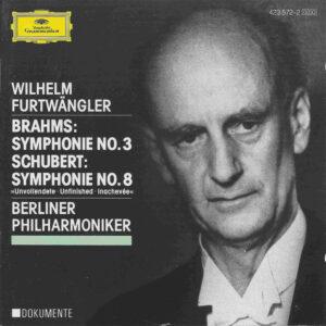 Brahms: Symphony 3; Schubert: Symphony 8, Furtwängler, CD, cover