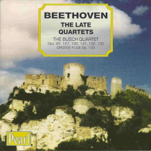 Beethoven, string quartets opp.95, 127 - 135, Busch Quartet, CD cover