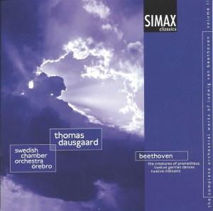 Beethoven: The Creatures of Prometheus, op.43 - Dausgaard, CD cover