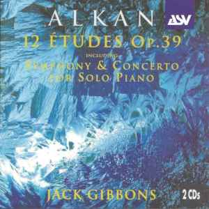 Alkan: 12 Etudes op.39, Gibbons, CD cover