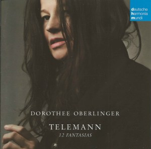 Telemann: 12 Fantasias (recorder), Oberlinger, CD cover