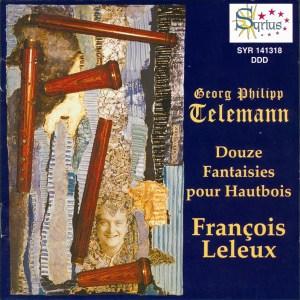 Telemann: 12 Fantasias (Oboe), Leleux, CD cover