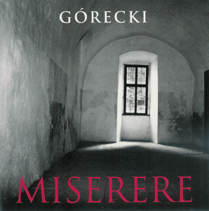Górecki, Miserere, Nelson, CD cover