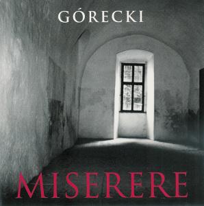 Górecki, Miserere, Nelson, CD cover