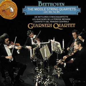 Beethoven, string quartets opp.59, 74 & 95, Guarneri String Quartet (1966), CD cover