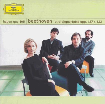 Beethoven, string quartets opp.127 & 132, Hagen Quartett, CD cover