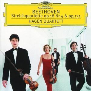Beethoven, string quartets opp.18/4 & 131, Hagen Quartett, CD cover